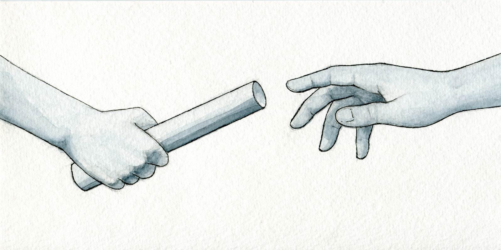 Hand off that baton